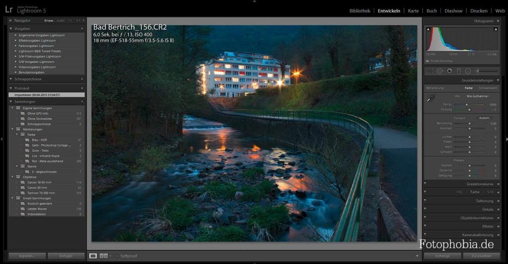 Hotel am Fluss - Beispiel für Bildbearbeitung in Lightroom 5