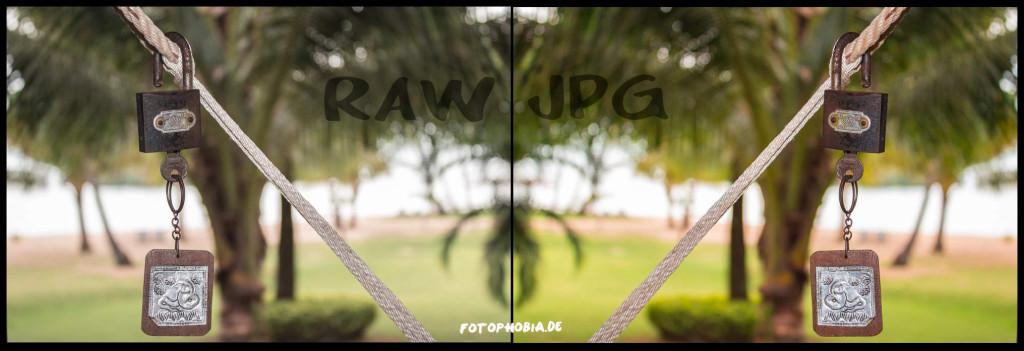 RAW-Foto und JPG-Bild im direkten Vergleich