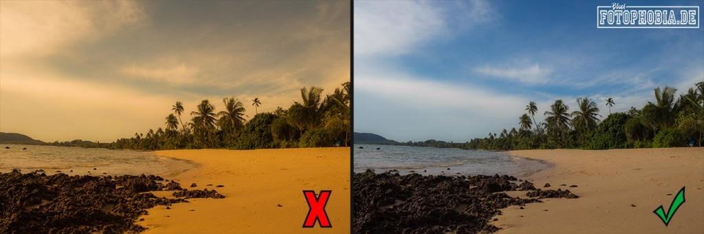 Foto-Beispiel anhand verschiedener Weissabgleiche