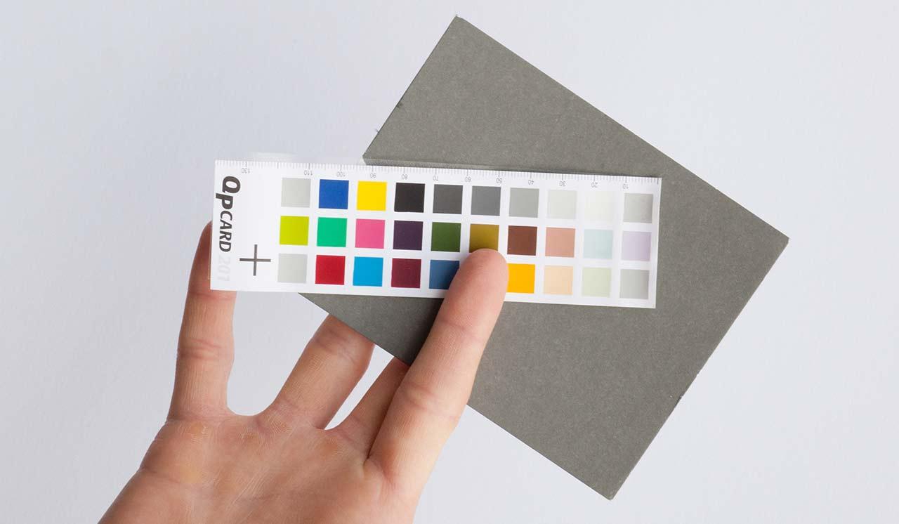 Foto einer Graukarte