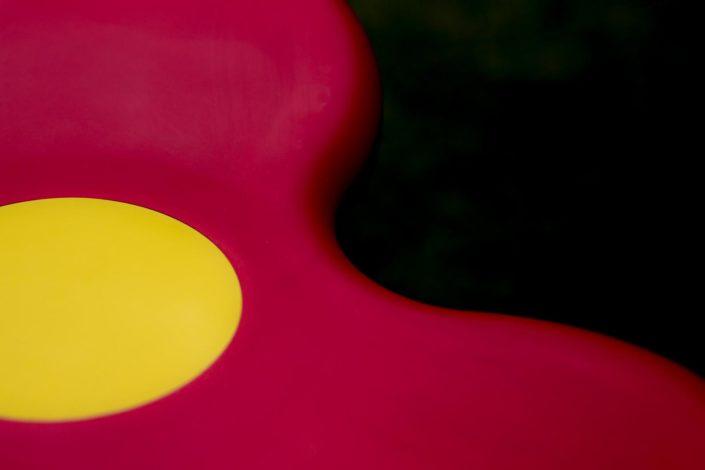 Gummisitz in verwschwimmenden Farben