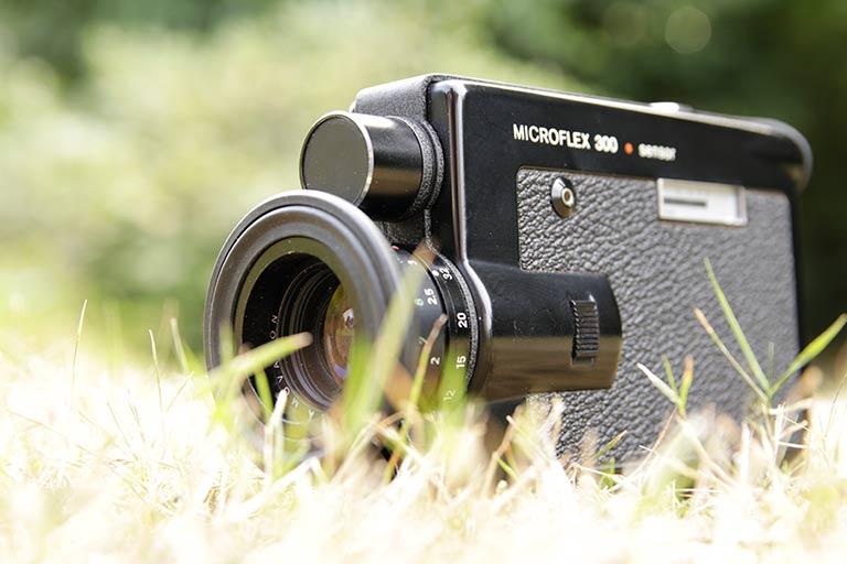 Filmen mit einer alten Microflex 300