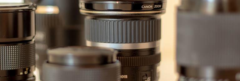Eine Auswahl vieler Zoom-Objektive